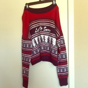 Cropped winter sweater